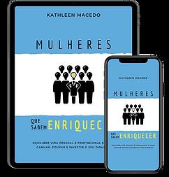 Livro Mulheres que sabem enriquecer mock