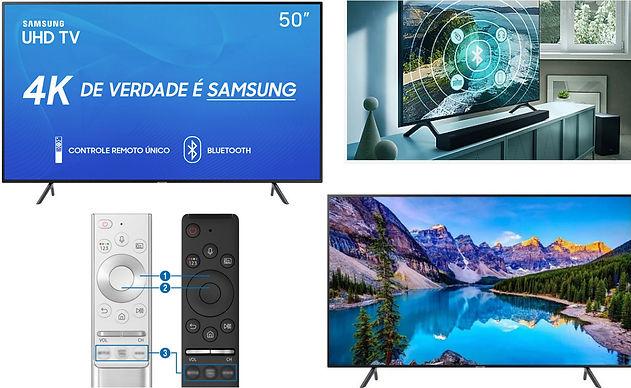 melhor smart TV 4k Samsung 50 polegadas