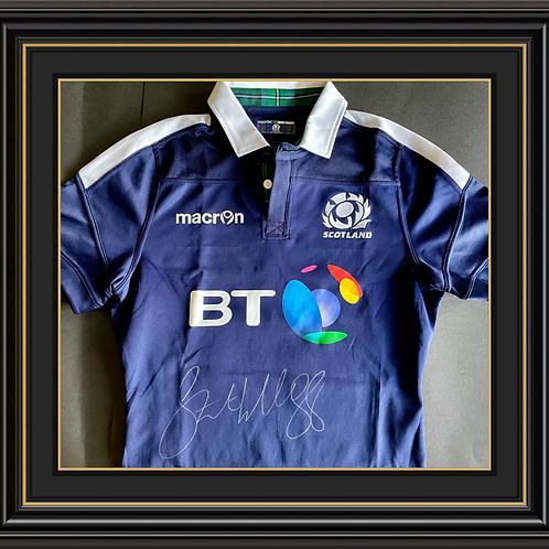 Stuart Hogg Signed Scotland Shirt