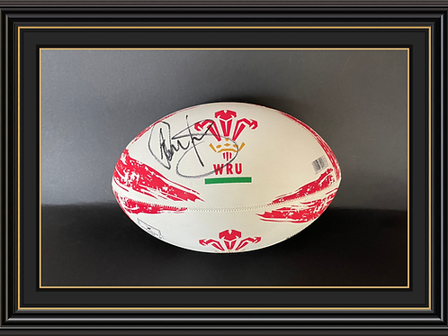Adam Jones Signed Wales Rugby Ball