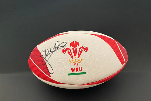 George North Signed Wales Rugby Ball