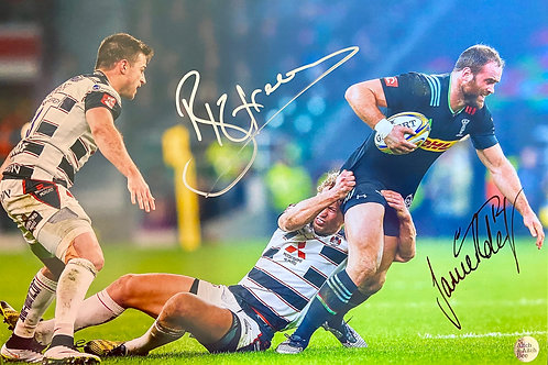 Billy Twelvetrees and Jamie Roberts Dual Signed Print