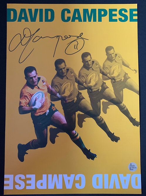 David Campese A3 Signed Poster