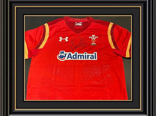 Sam Warburton Signed Wales Shirt
