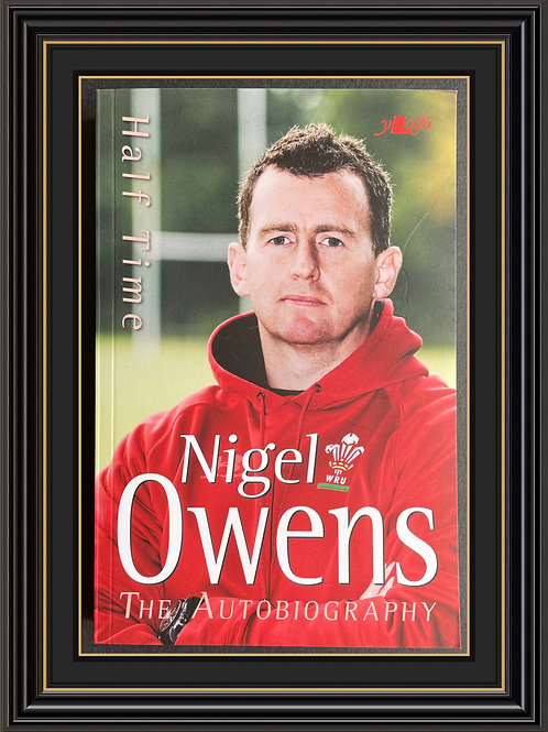 Nigel Owens MBE  Signed Copy Paperback Book