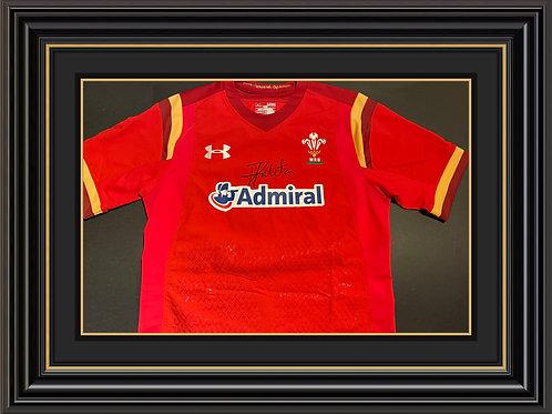 Taulupe Faletau Signed Wales Shirt