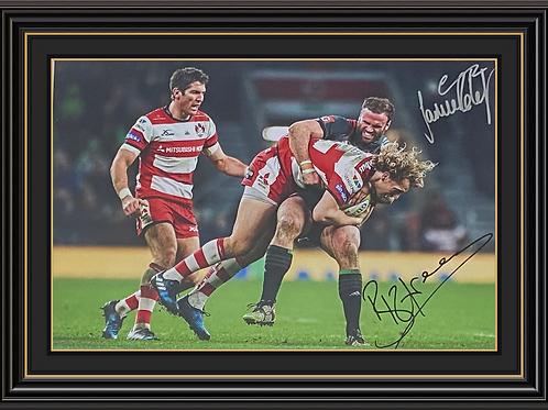 Billy Twelvetrees and Jamie Roberts Dual Signed Print