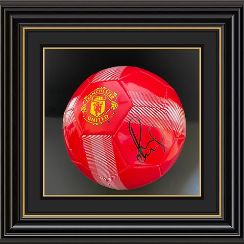 Paul Scholes Signed Manchester United Ball
