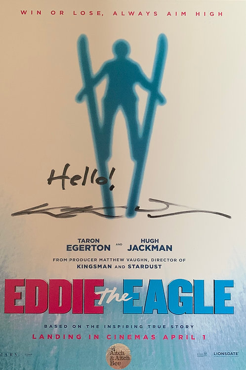 Movie Poster Signed by Eddie the Eagle Edwards