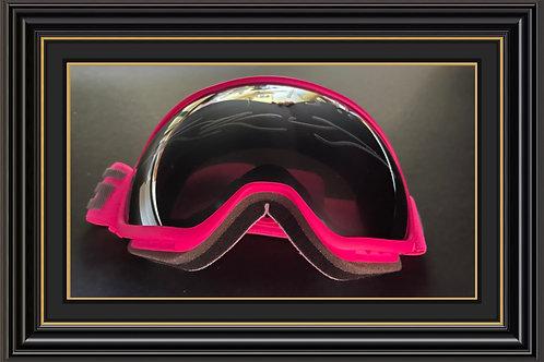 Eddie the Eagle Edwards Signed Pink Ski Goggles