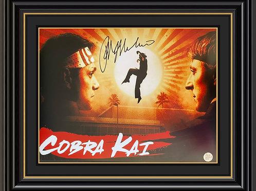 Cobra Kai Framed Print Signed By Ralph Macchio