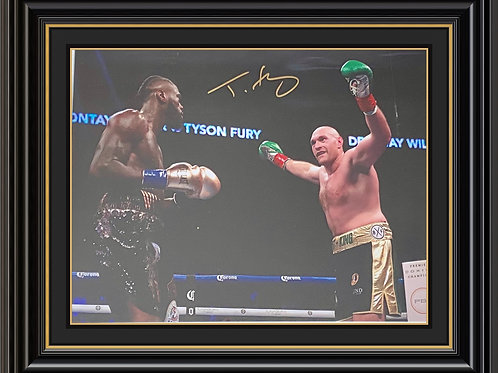 Tyson Fury Signed and Framed Print
