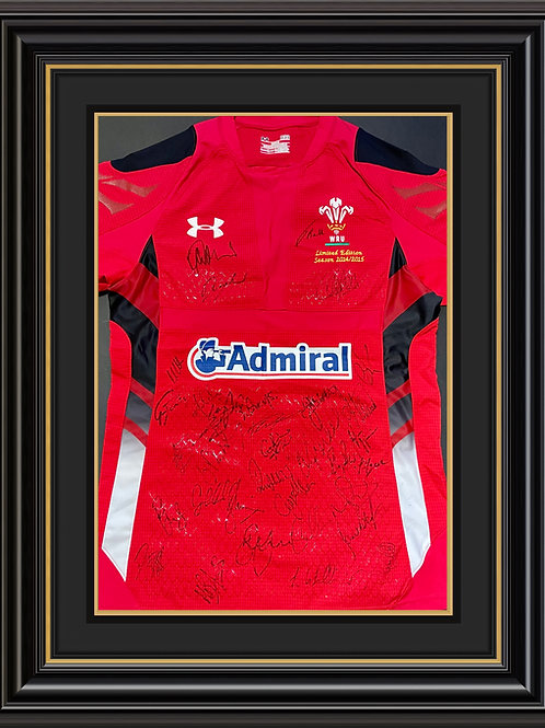2014/15 Wales Shirt Signed by Full Squad