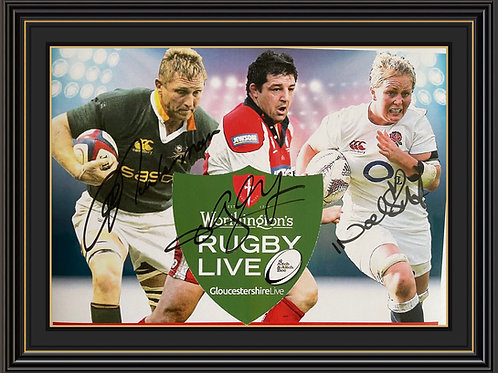 A4 Advertising Poster signed by Johan Ackermann, Olivier Azam & Issy Noel-Smith