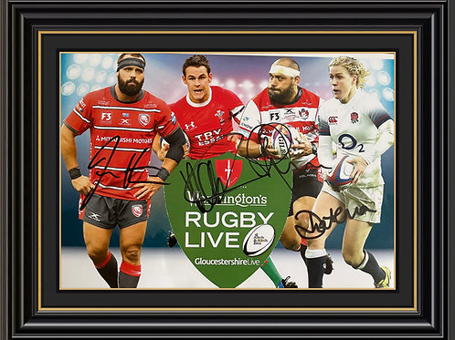 A4 Advertising Poster signed by Afoa, Byrne, Hanson and Waterman