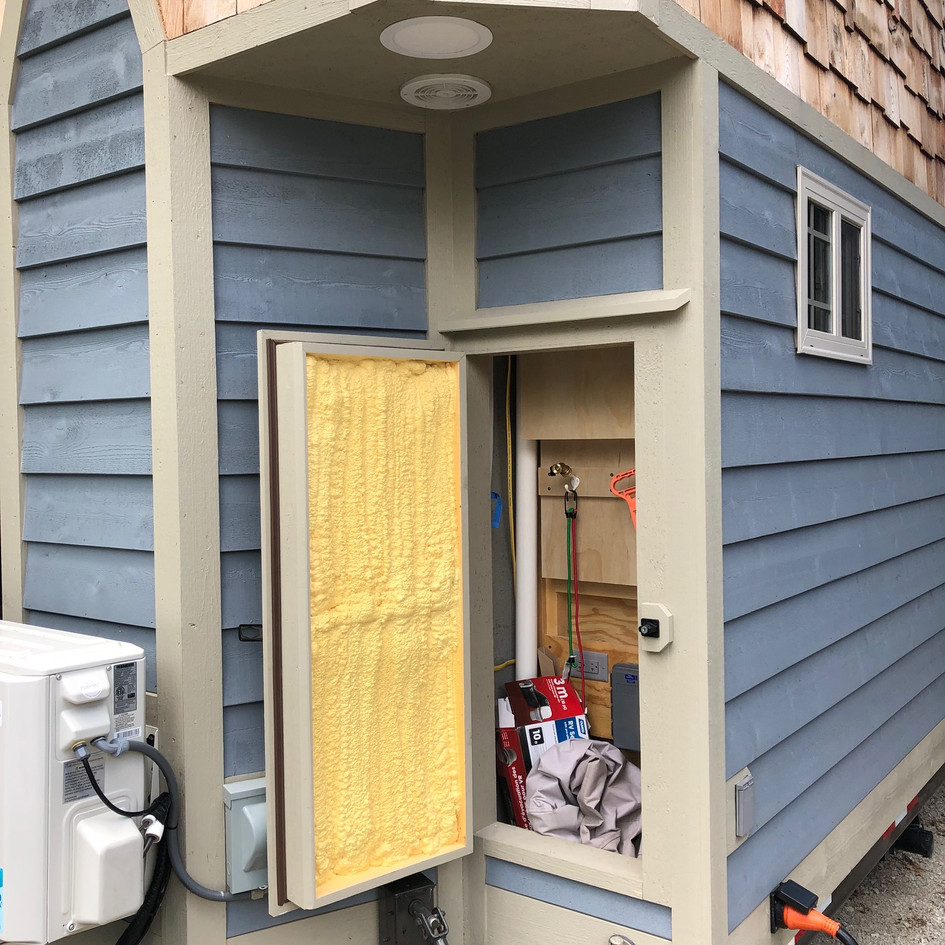 Front Exterior Storage Areas