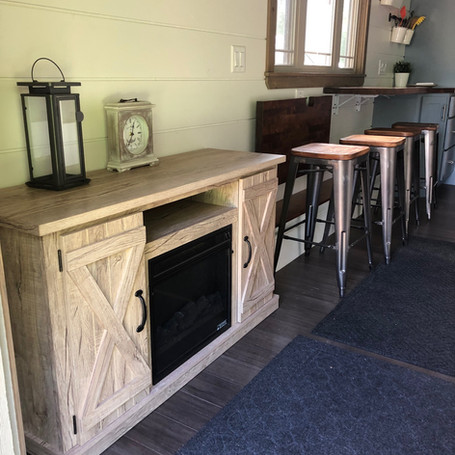 Entertainment Cabinet with Fireplace