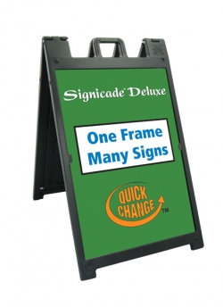 Deluxe Aframe with 2 sign panels (changeable)