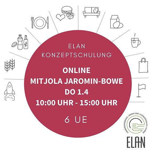 ELAN - Konzeptschulung mit Jola Jaromin-Bowe