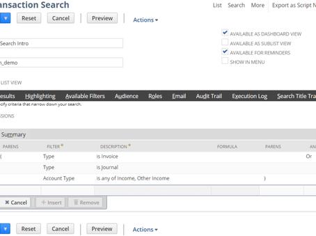 SuiteScript 2.0 N/search Module samples