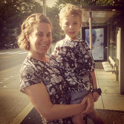 Kelly Jo and her son
