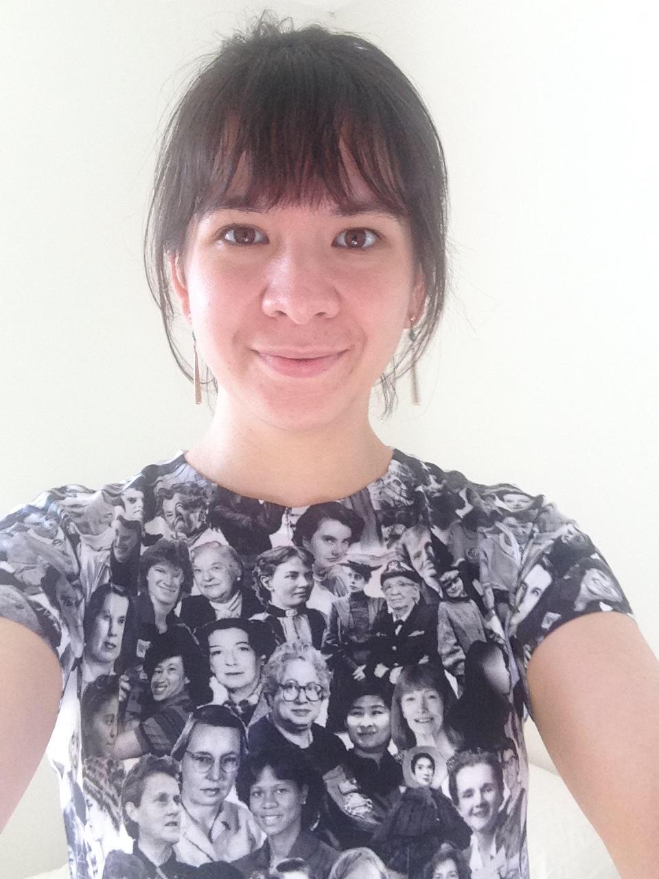 Kara wearing That Other Shirt