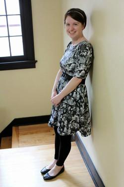 Kristin in her custom STEM dress