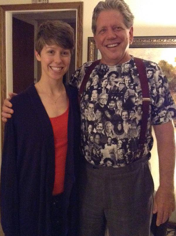 Tamara and her dad wearing STEM
