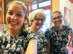Dawn & her family in matching shirts