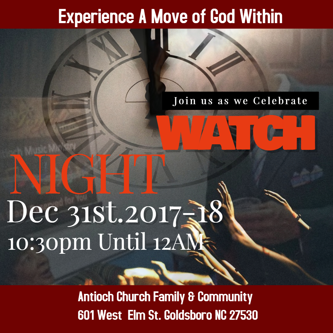 Join us for Watch Night Service