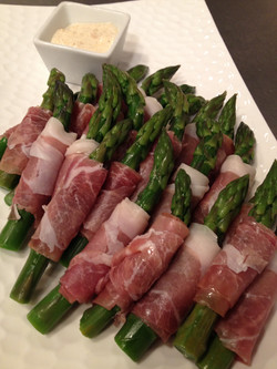 Asparagus with prosciutto - What a D