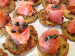 Smoked salmon blinis - What a Dish C