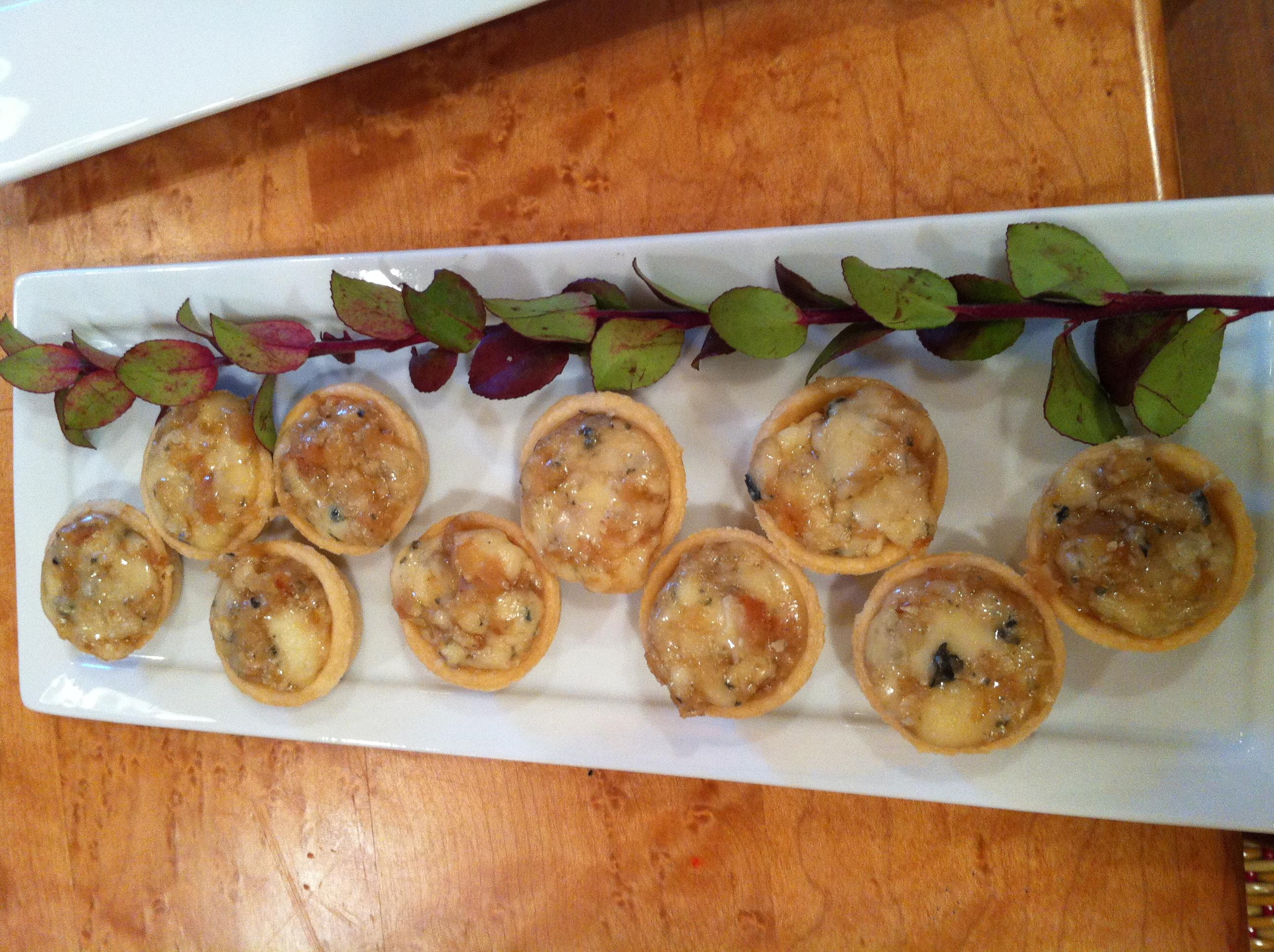 Pear gorgonzola tart -What a Dish Ca