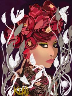 Femme ou fleur