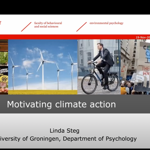 Webinar 'How to encourage pro-environmental behaviour and overcome barriers to behaviour change?' door Professor in Environmental Psychology Linda Steg