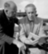 Komponist Hermann Meier mit Komponist Wladimir Vogel 1948