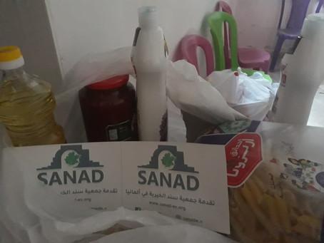 SanaD verteilt Lebensmittelkörbe in Swaida-Syrien