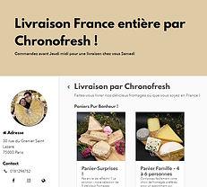 Livraison dans la France entière par la Fromagerie Saisons