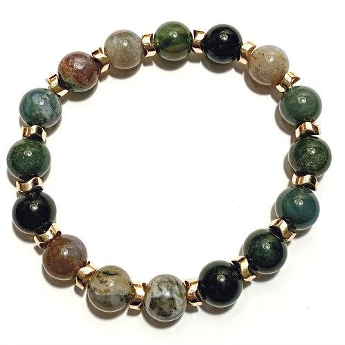Fancy Jasper & Hematite Bracelet