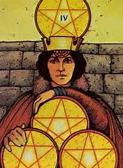 Tarot of the Day: Four of Pentacles
