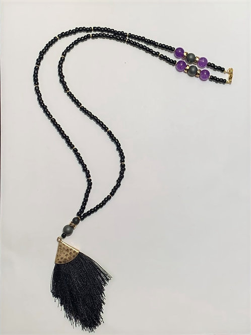 Beaded Necklace with Tassle