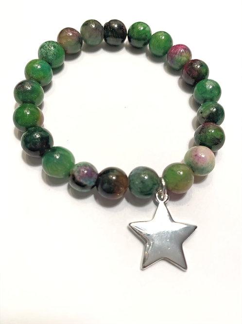 Nickel Free Star & Kyanite Bracelet