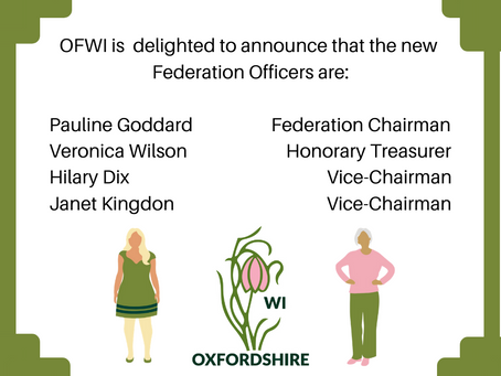 Federation Officers Announced