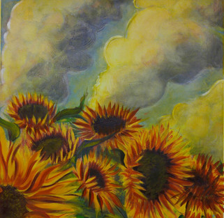 Sunflowers on Fire