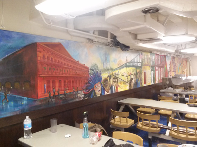 USS New Orleans Mural