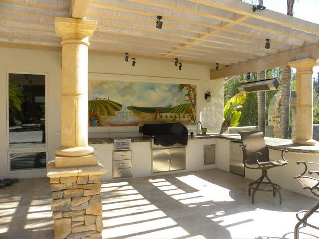 Outdoor Kitchen Mural