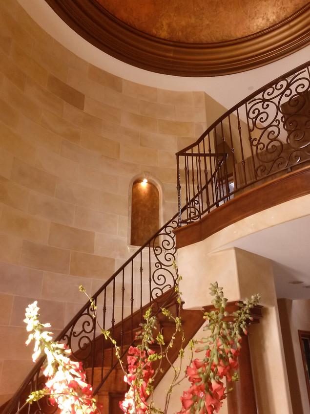 Faux Block Stairway