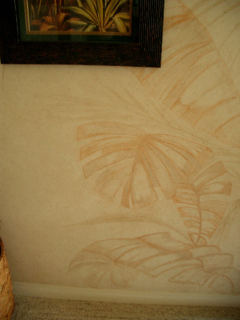 palm leaf closeup