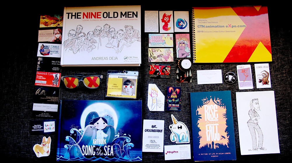 Purchases and business cards collected from CTNX 2015