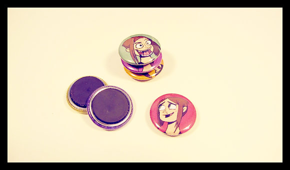 Caricatures - Buttons or Magnet Sets